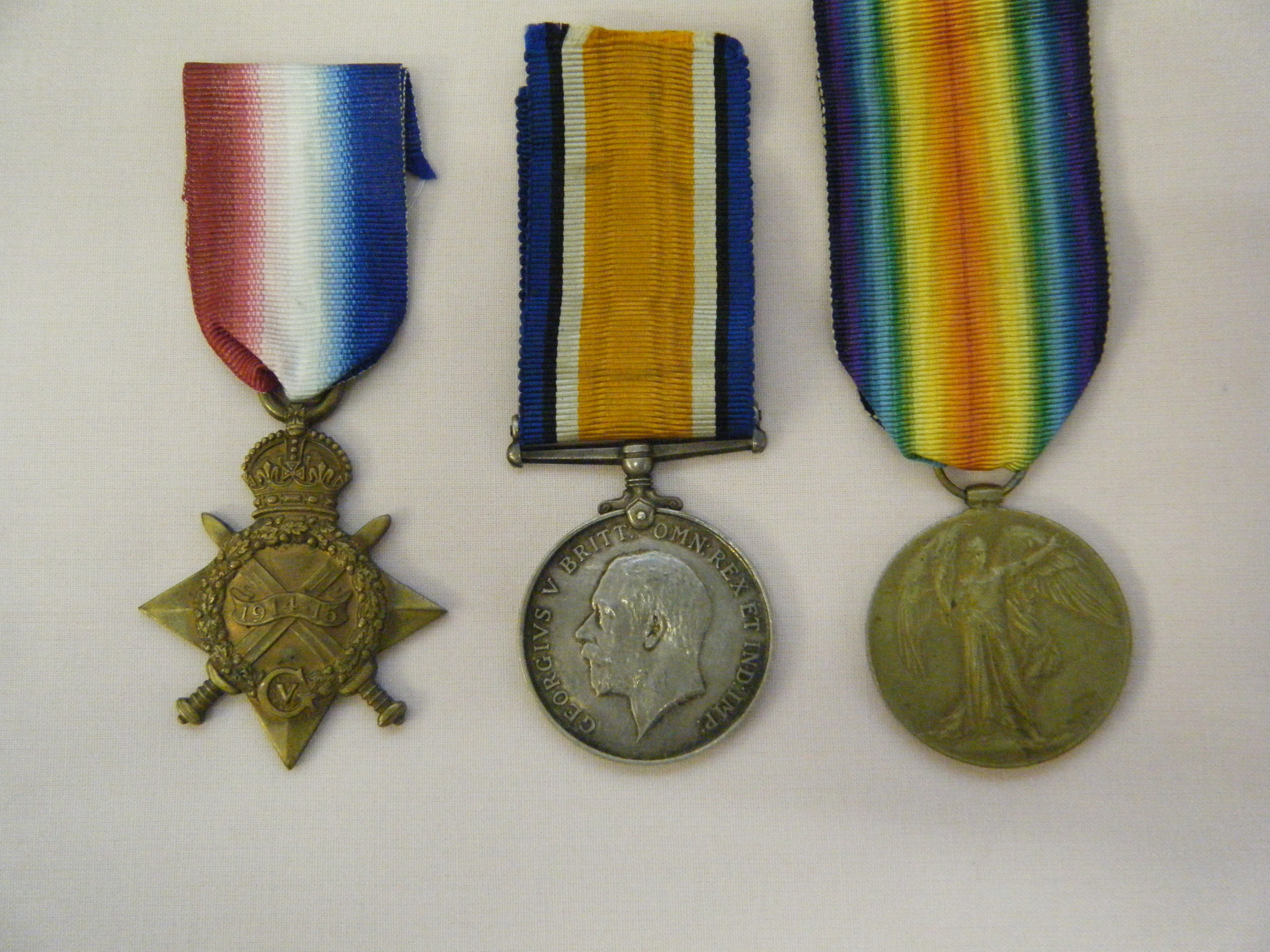 THREE.  Lt-Col. G.H.B. Vessey, Army Service Corps and Royal Engineers (to France 23/11/14, awarded O.B.E. and M.I.D. twice).