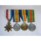 FOUR.  12893 Pte. W.M. Brown, Coldstream Guards, later 2./Lieut. York and Lancaster Regiment and Mayor of Bridlington.