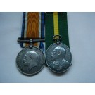 PAIR.  W.O.2. J.D. Falconer, Royal Field Artillery (served with the 3rd Home Counties Brigade at Dover).