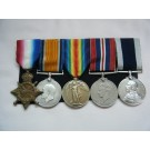 FIVE.  S.R. Gilbery, C.P.O., Royal Navy (served during W.W.1. as a qualified diver).