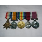 FIVE.  Major T.V. Kane, Royal Army Service Corps (served for 44 years).