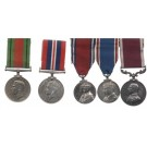 FIVE.  Major E.W. Lines, Royal Army Pay Corps (served for 46 years, Private to Major, entitled to M.B.E.)