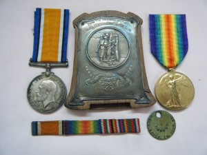 PAIR.  S-360643 Pte. J.W. Aspin, Army Service Corps (with photograph and a tribute plaque from the Darwen Conservative Club).