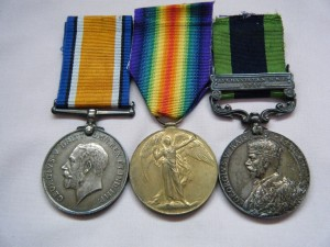 THREE.  240711 Pte. L. Lewis, Royal West Kent Regiment  (I.G.S. for services with 17th Special Service Battalion).