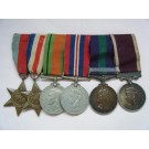 SIX.  Lt-Col. H.C. Ball, Royal Army Medical Corps  (served 1931 to 1967, Pte. to Lt-Col.).