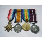 FOUR.  13667 Sgt. W.P. Spencer, Royal Fusiliers.