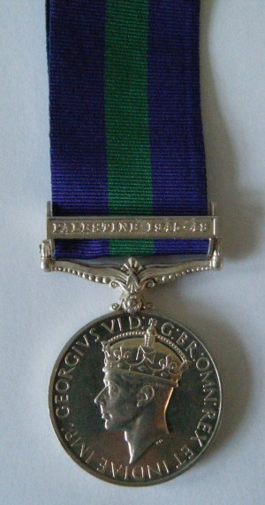 ONE.  14499410 Pte. G. Clarke, Army Air Corps (served with the 6th Bn. in Palestine and with the 8th Bn. in W.W.2.).